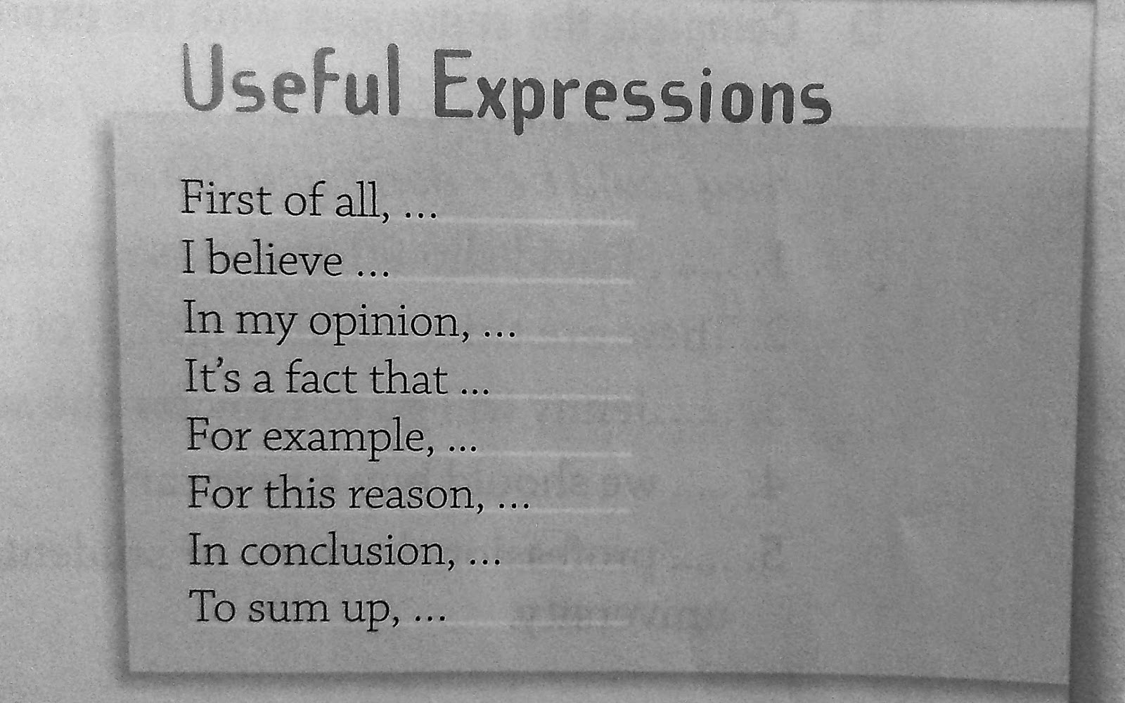 for and against essay + useful expressions The ielts writing exam is marked on four criteria – grammar and sentence structure vocabulary usage answering the task response and coherence and cohesion each make up 25% of the overall score often when i read an essay by an esl student, i'm impressed by their range of vocabulary and their.