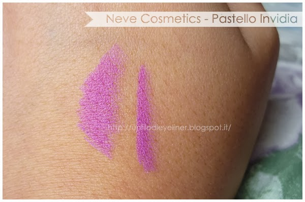 swatch invidia pastello labbra neve cosmetics