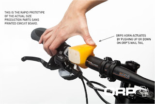 orp bike horn bicycle light loud kickstarter 96dB powered by usb