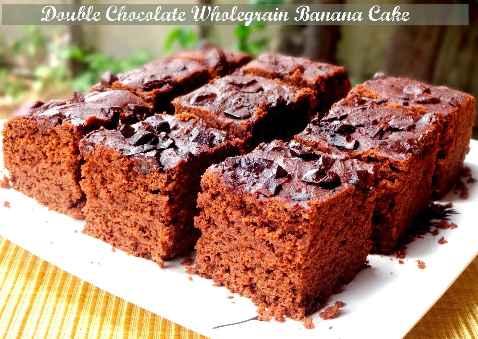 double chocolate wholegrain banana cake