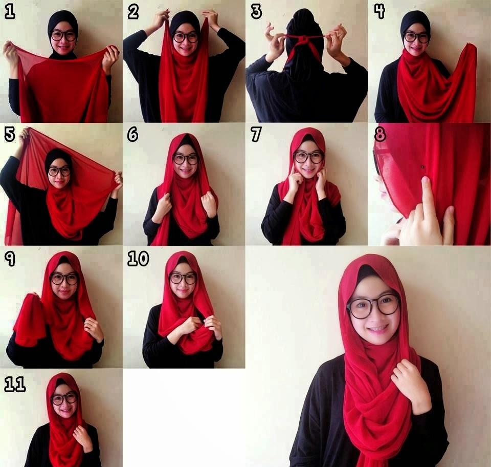 Tips Hijab Modern Untuk Wanita Berkacamata Tutorial Hijab 2016