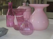 Roze flesjes