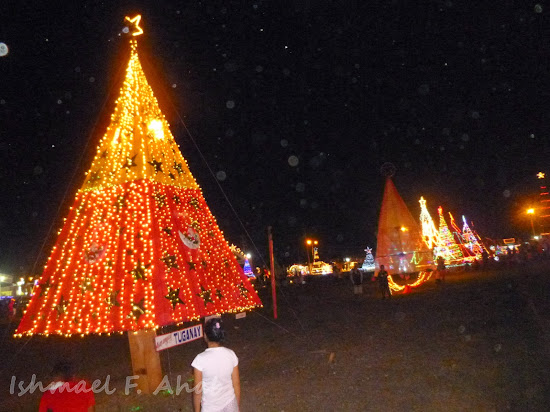 Christmas trees in Kahayag Festival