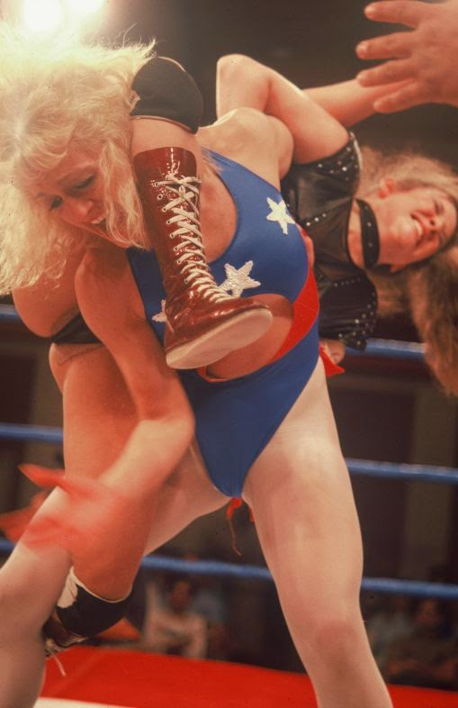 Linda Dallas-Heidi Lee Morgan-womens pro wrestling-female wrestling