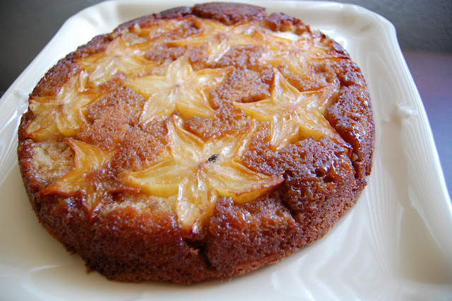 Food.OakMonster.com - Starfruit Upside Down Cake