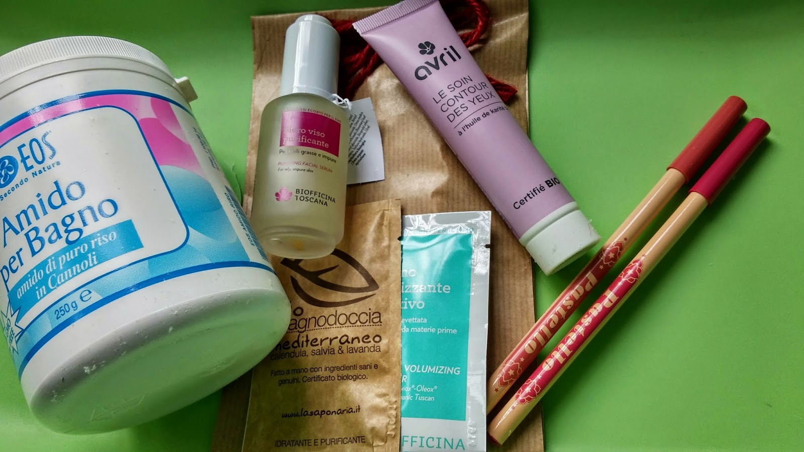 Neve Cosmetics, Avril, Biofficina Toscana, Eos, LaSaponaria