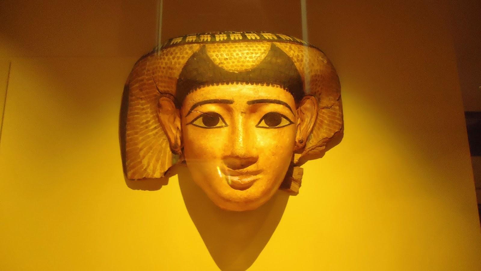 Máscara egipcia sarcófago