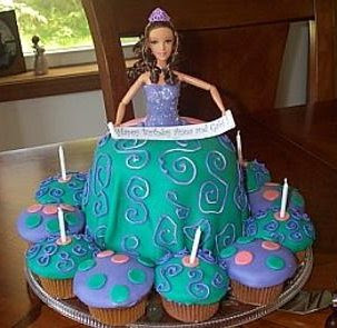 Barbie Birthday Cupcake Ideas