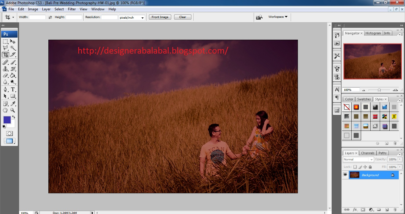 Edit Foto Pre Wedding dengan Photoshop