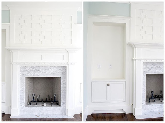 Fireplace tile and molding