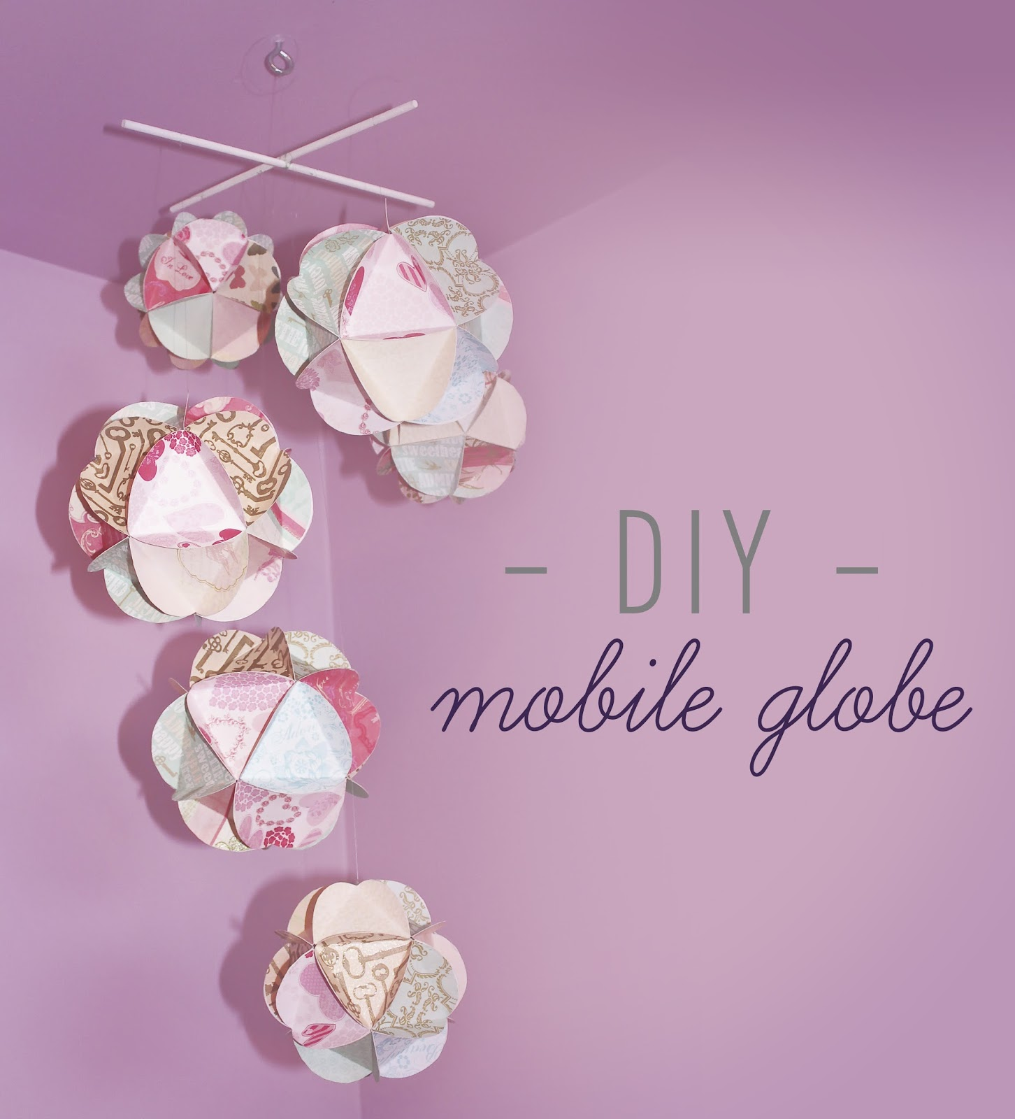 fid les compagnons diy mobile globe. Black Bedroom Furniture Sets. Home Design Ideas