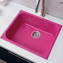 fregadero de cocina de colores AQUILES resinas fucsia rosa