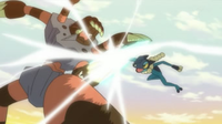 Pokemon XY - Capitulo 52 - ¡¡Frogadier VS Barbaracle!!