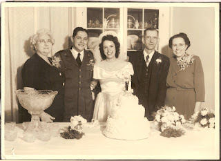 L to R Agnes Tully Stevens Frank Stevens Norma Flowers John A Flowers Bertha Metzger Flowers