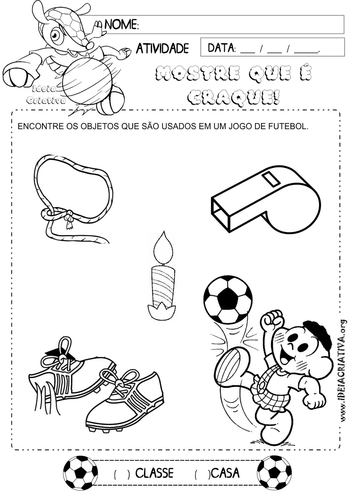 Atividade Copa do Mundo 2014 Encontrando Objetos
