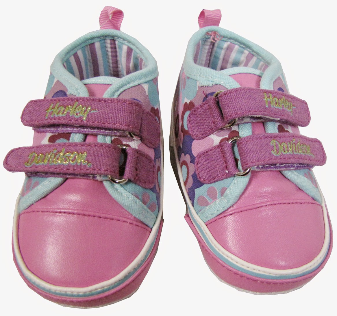http://www.adventureharley.com/harley-davidson-girls-floral-crib-shoes