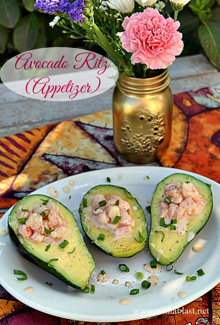 Avocado Ritz (Appetizer) ~ The most delicious, quick and easy Appetizer which is loved by all and our family favorite ! This Appetizer only takes minutes to prepare and it's not only delicious, but looks great as well #Appetizers #Christmas www.WithABlast.net