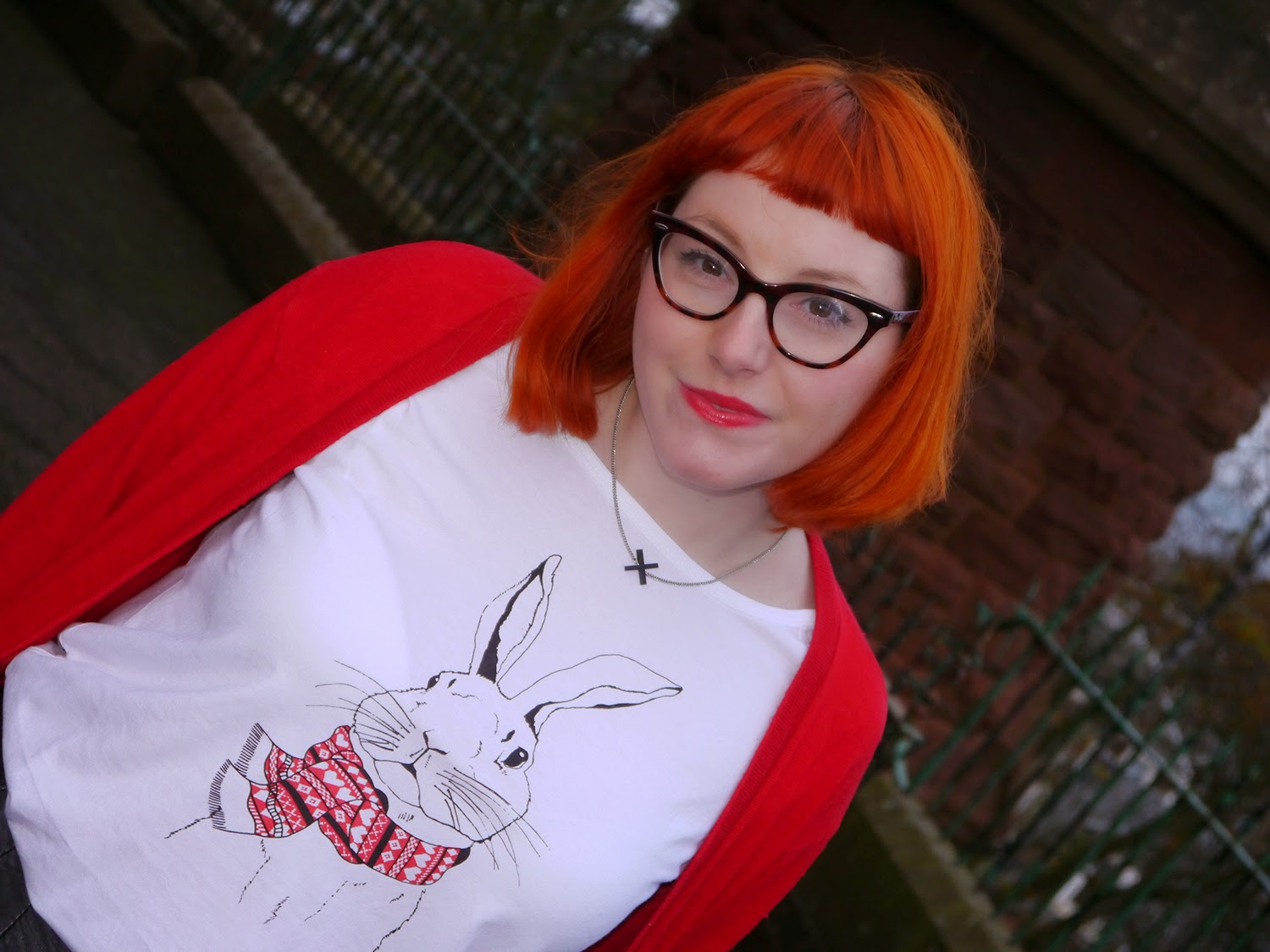 Brat and Suzie tshirt, Brat & Suzie, rabbit tshirt, winter style, Scottish Blogger, Styled by, British design, London brand