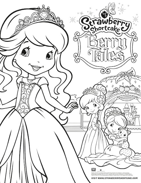 Strawberry Shortcake Free Printables Free Coloring Sheet