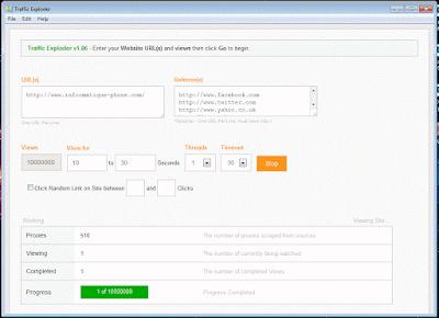 برنامج جلب الزوار ـ Traffic Exploder v1.6 Free