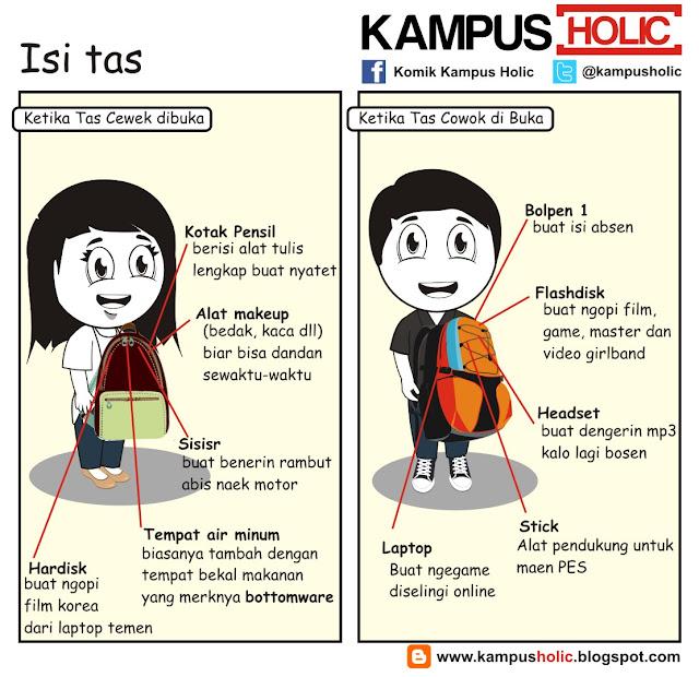 #187 Isi Tas mahasiswa di komik kampus holik
