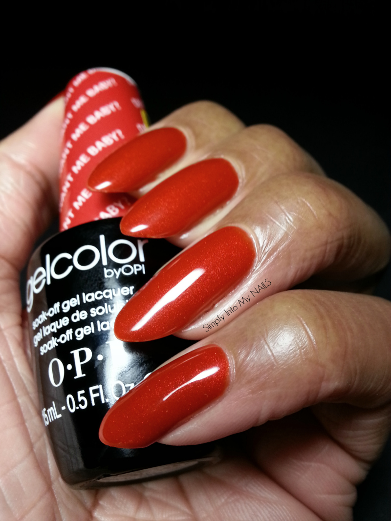 OPI Gelcolor Deutsch You Want Me Baby? | Simply Into My NAILS