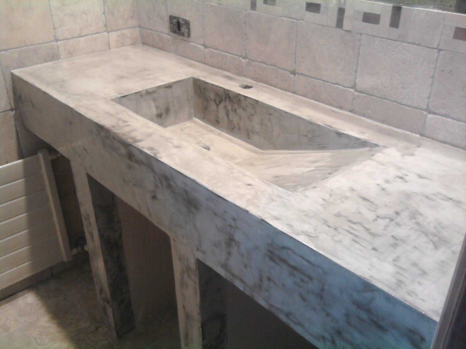 Pisosy muros de cemento color cemento for Muebles microcemento