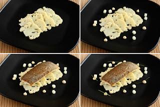 halétel pisztráng pisztrángfilé karfiol szelet karfiolszár szerecsendió vaj fehér mák mákolaj citrom krém citromkrém