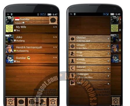 download bbm tema wood terbaru sudah ada musik status update