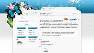Butterfly Theme Blogger Template
