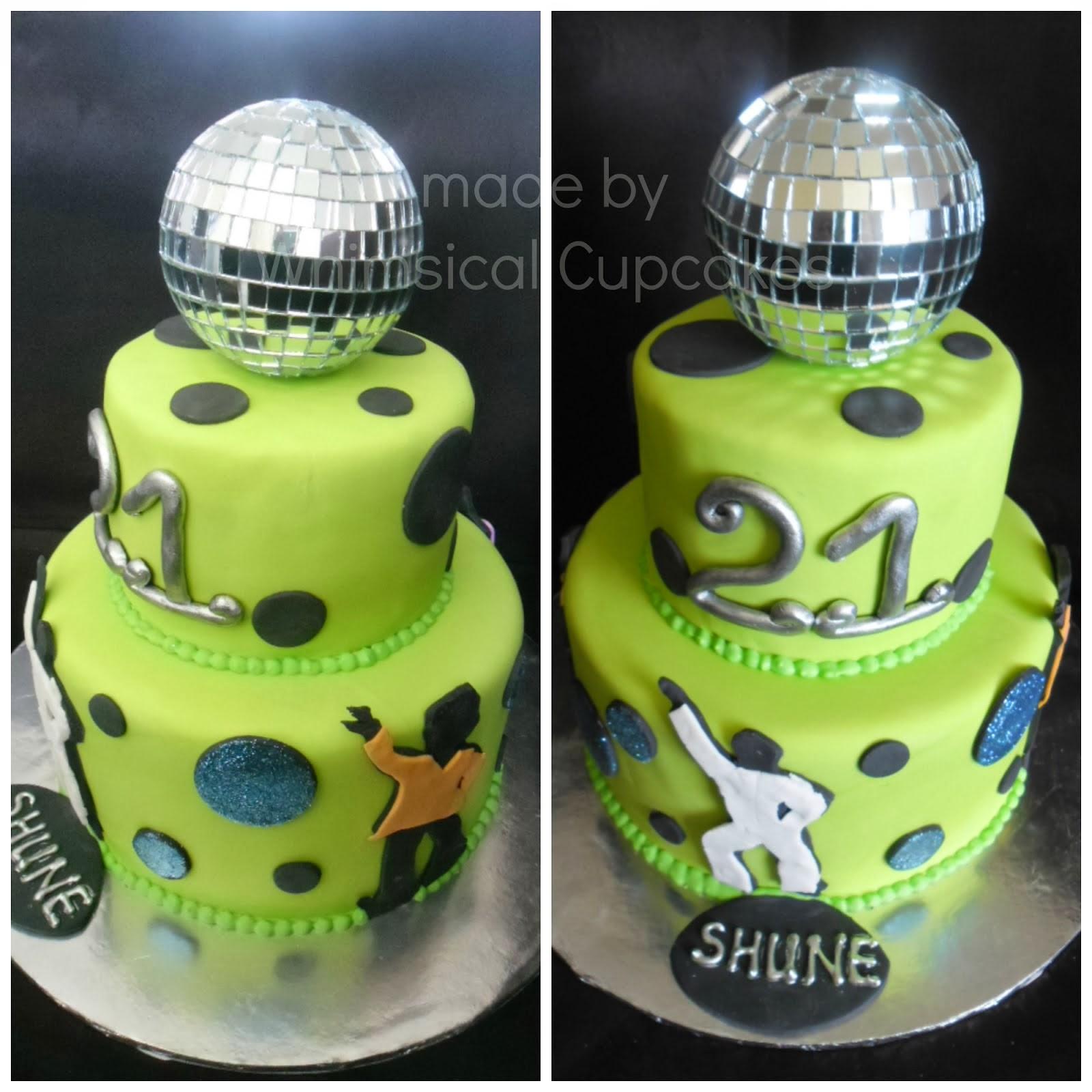 Whimsical Disco Themed Cake