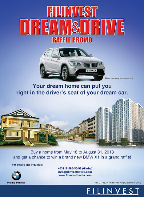 Filinvest Dream and Drive Raffle Promo 2013