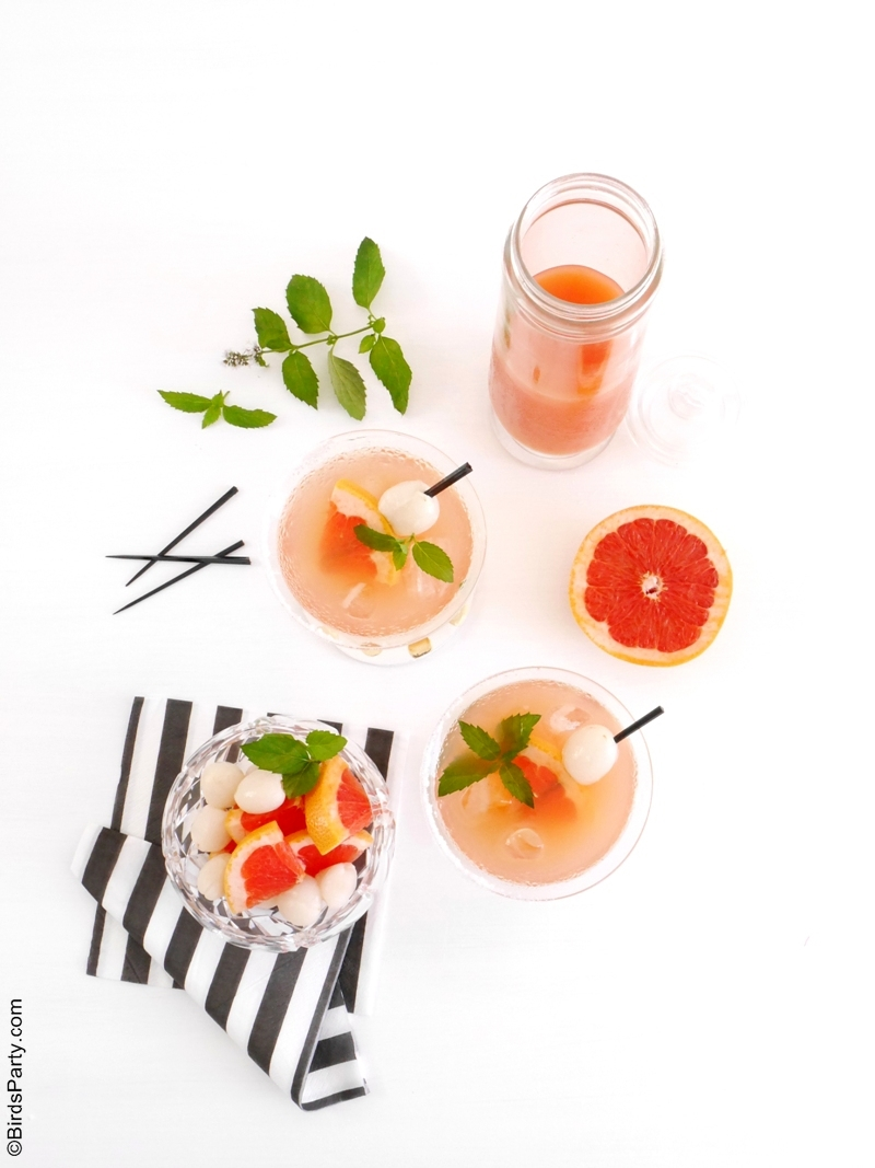 Lychee Syrup & Grapefruit Cocktail Recipe