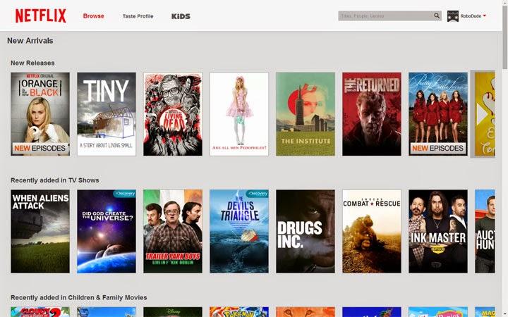 New Netflix Design.