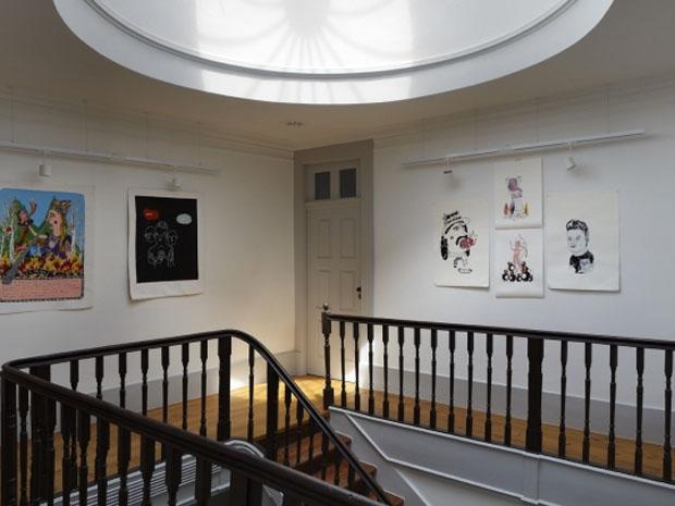 Pensao, Favorita, Hotel, Oporto, Porto,escalera,staircase,madera,cuadro