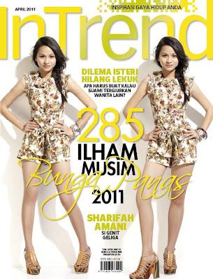 Sharifah Amani Covergirl InTrend April 2011 (Gambar)