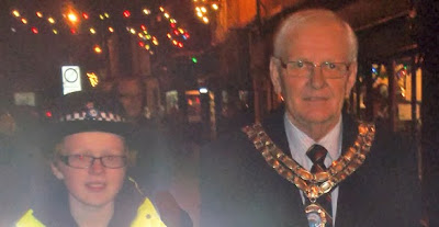 Brigg Christmas Lights 2013 - Town Mayor Coun John Kitwood