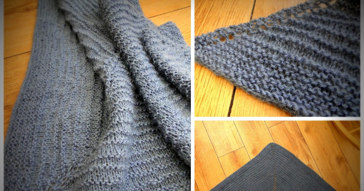 3 Rabbits Patterns: Very easy FREE Shawl knitting pattern