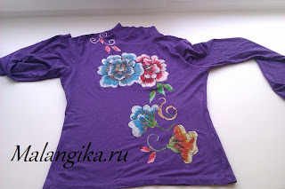 декор одежды красками