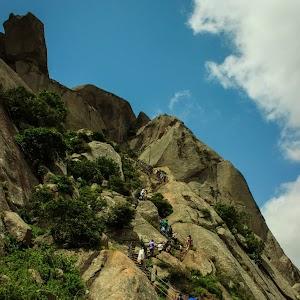 Shivagange steep stairs