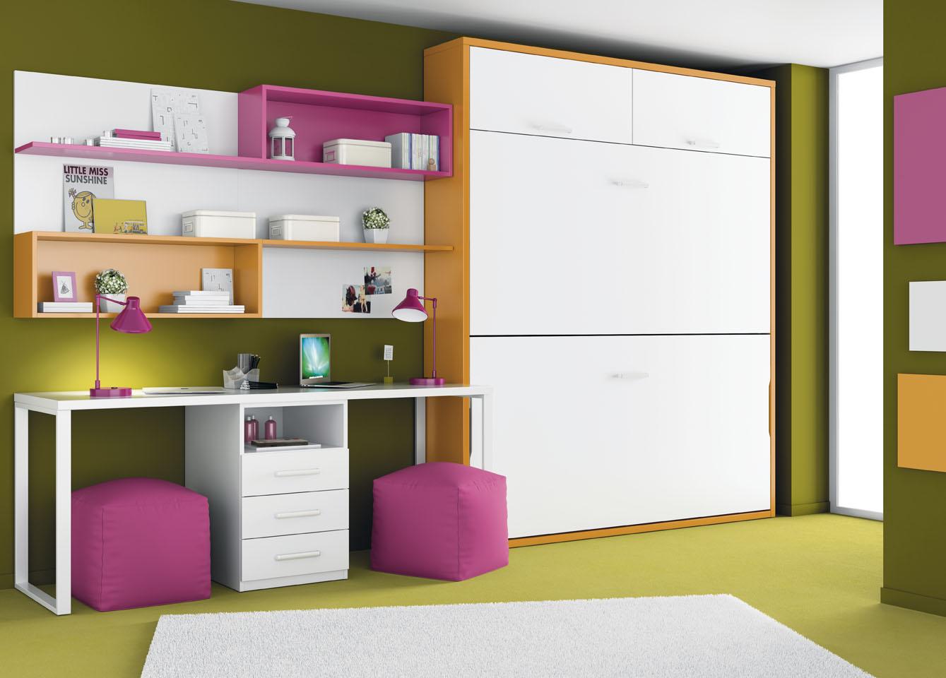 L nea de camas abatibles de ros camas abatibles for Dormitorios cama 1 05