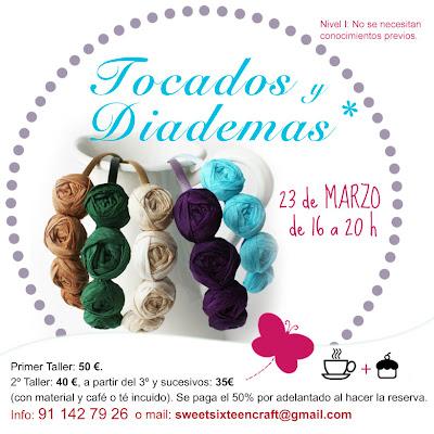 Taller monográfico Tocados y diademas sweet sixteen craft store.