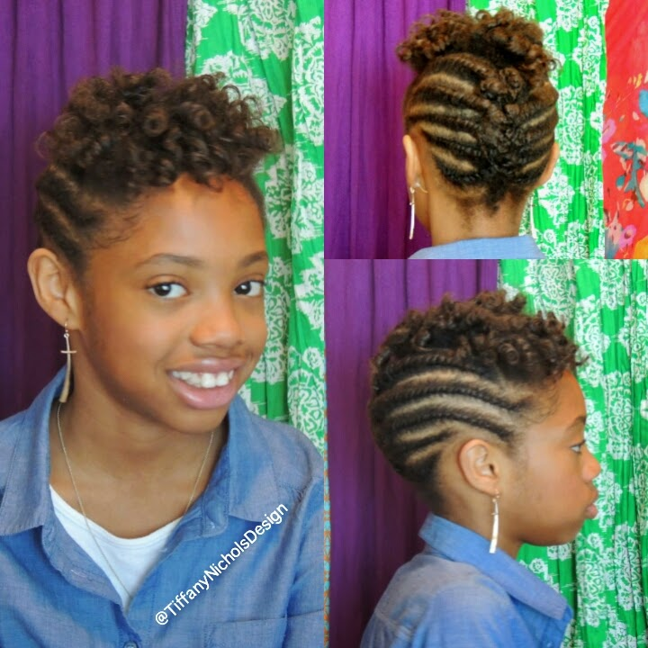 Flat Twist Hairstyles for Natural Hair for Kids