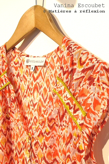 Top Ikat orange Vanina Escoubet vêtement Betty