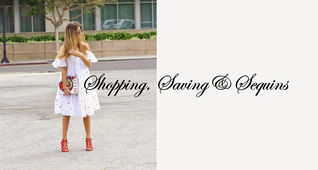 Shopping, Saving & Sequins