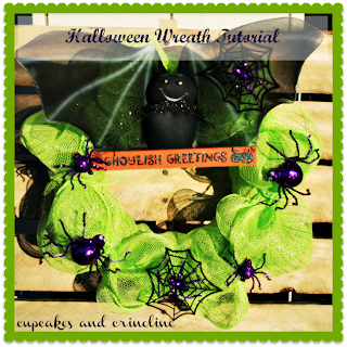 Ghouslish Greetings Halloween Wreath by Cupcakes and Crinoline