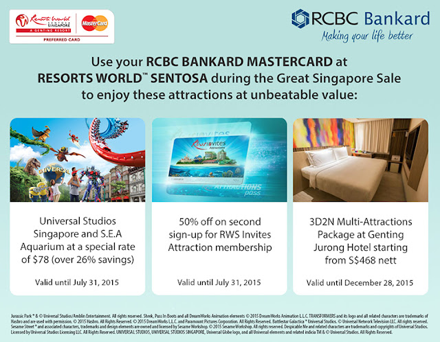 RCBC Credit Card: Year-round Discounts at Universal Studios Singapore