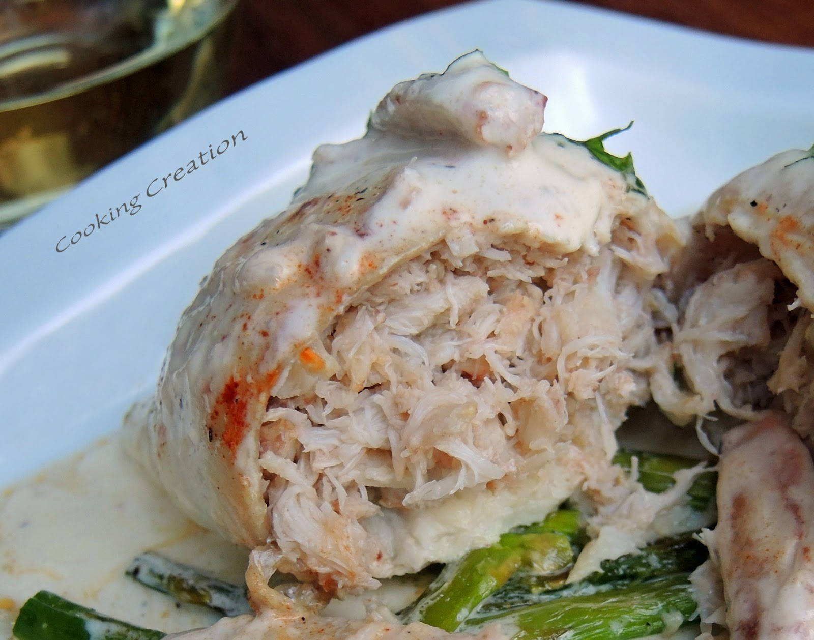 Cooking Creation: Baked Crab-Stuffed Flounder with ...
