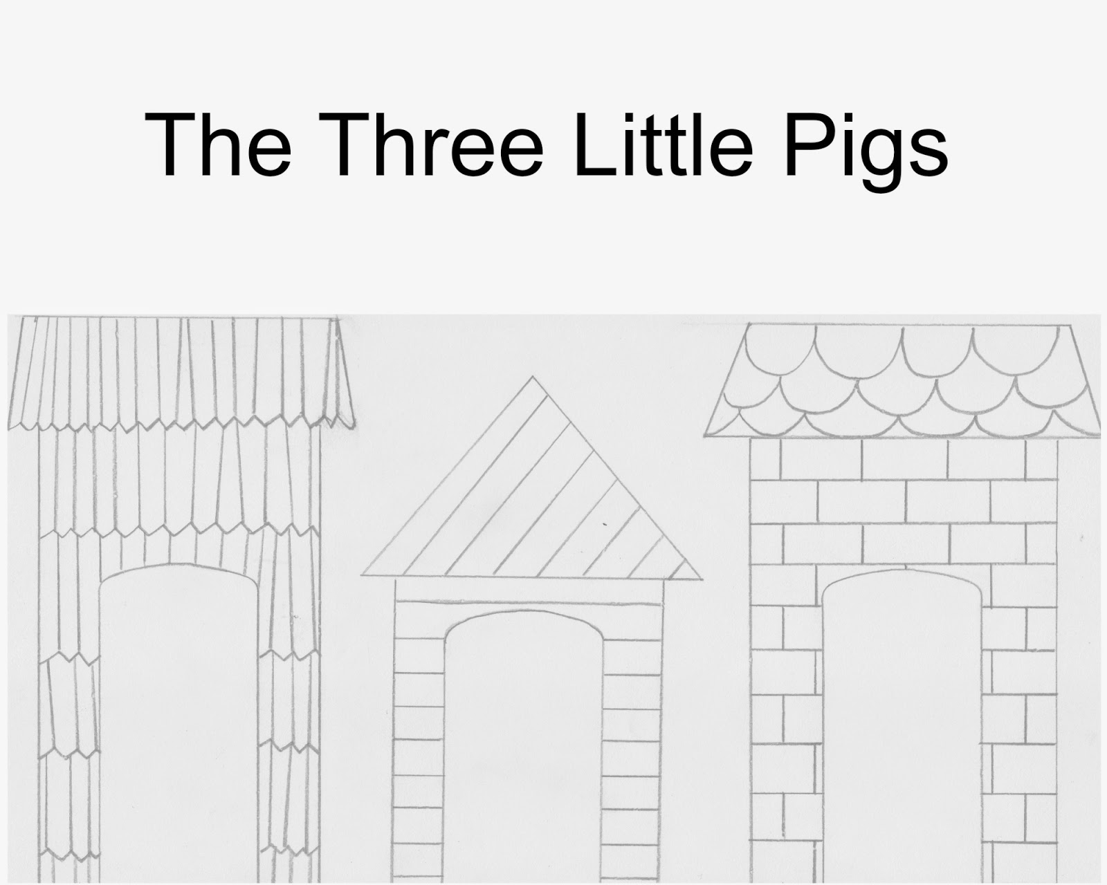 East coast mommy number crafts number three the for The three little pigs puppet templates