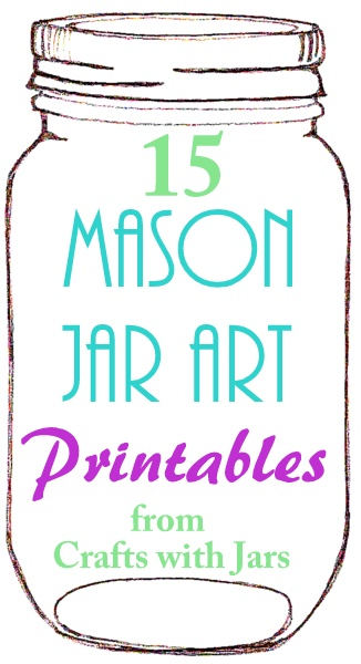 photograph relating to Mason Jar Printable known as Crafts with Jars: Printable Mason Jar Artwork